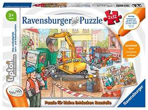 Preisjäger Junior: Ravensburger tiptoi Puzzle für kleine Entdecker: Baustelle