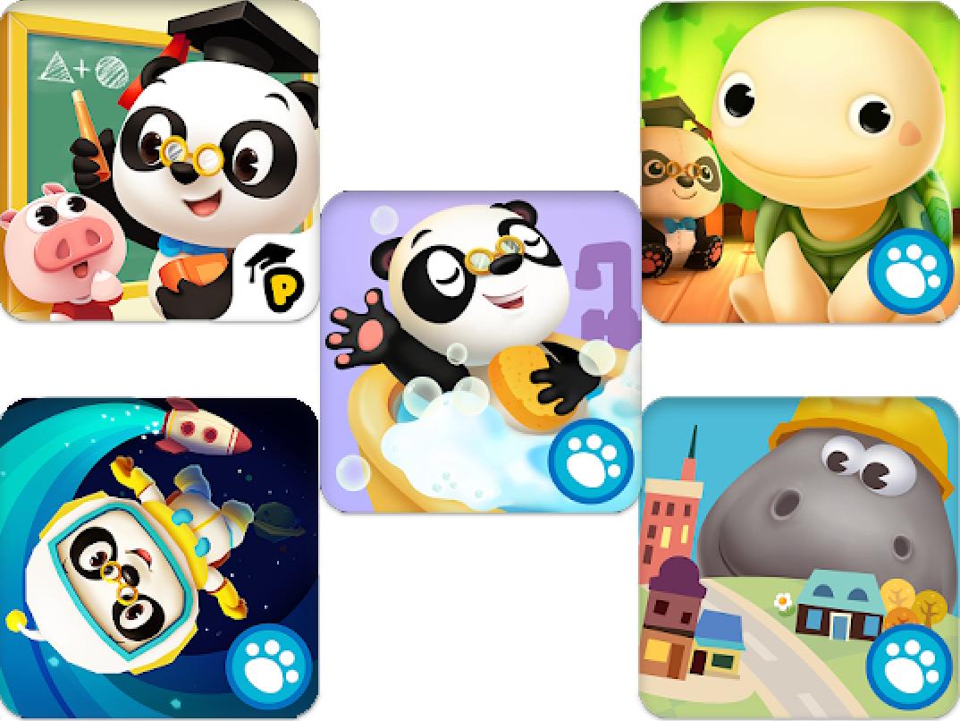 Preisjäger Junior: Dr. Panda im Weltall / Badezeit / Totos Baumhaus / Schule / Hoopa City (Android / iOS)