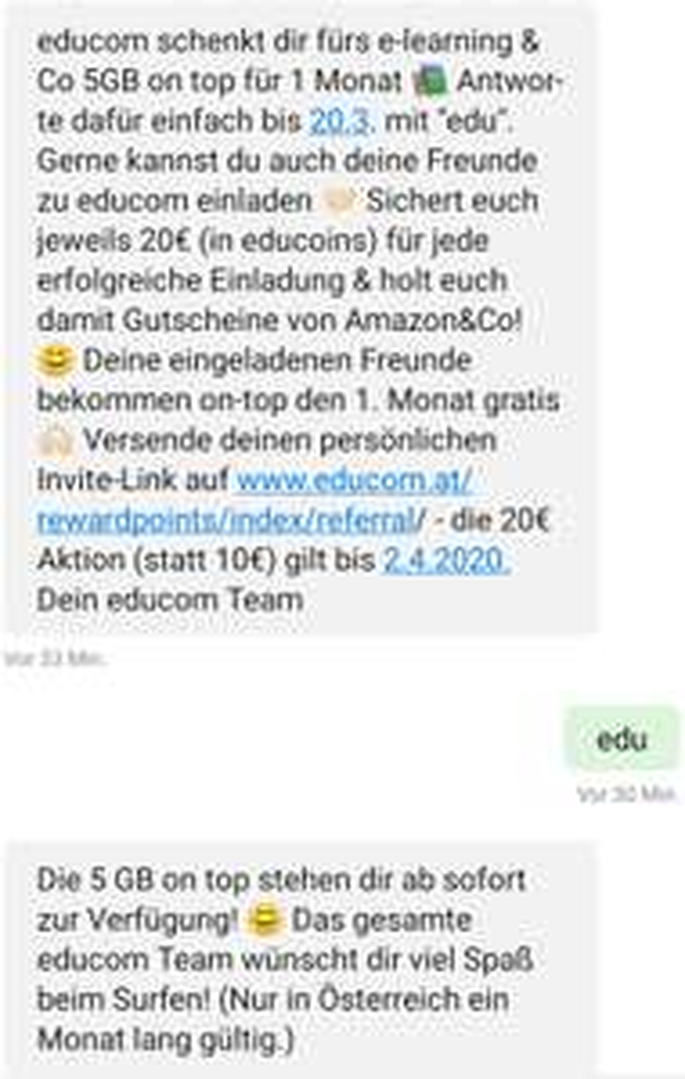 [educom-Handy] | 5 GB Daten onTop