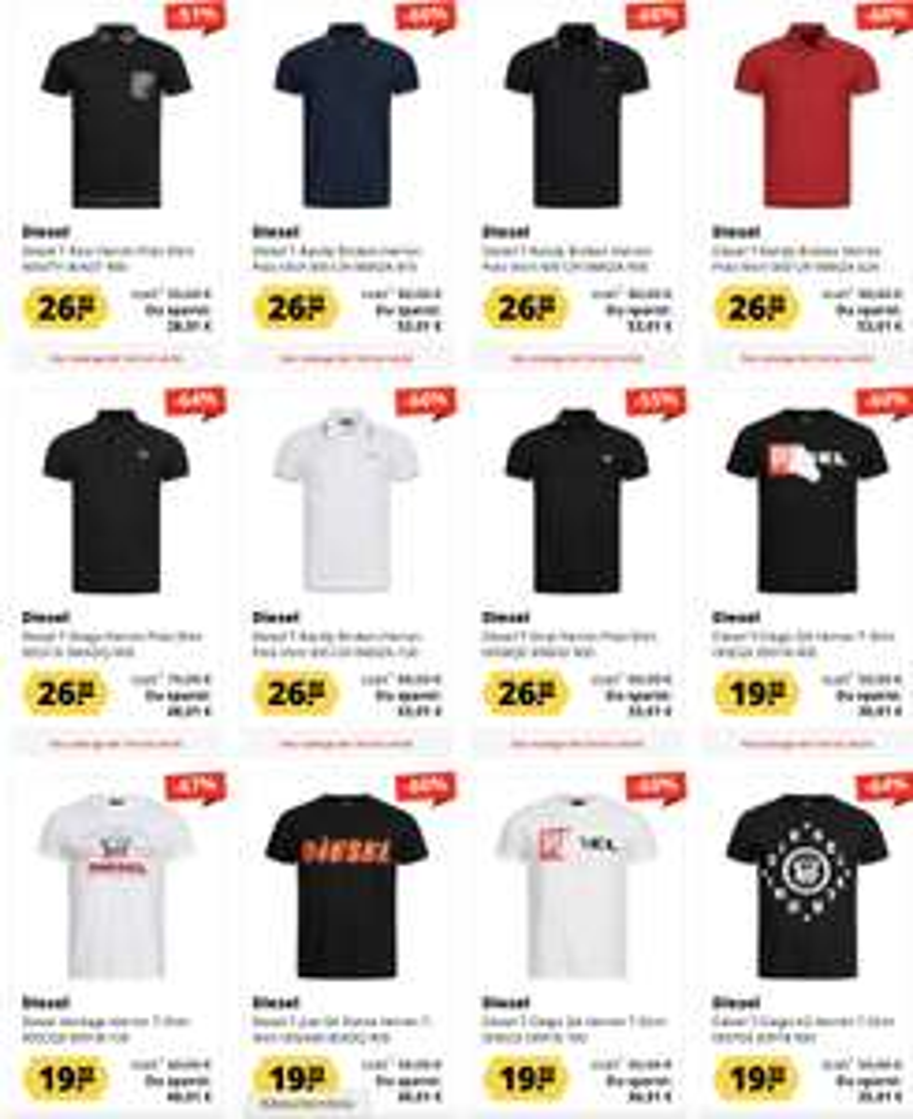 Sportspar: Diesel T & Polo Shirt Ausverkauf