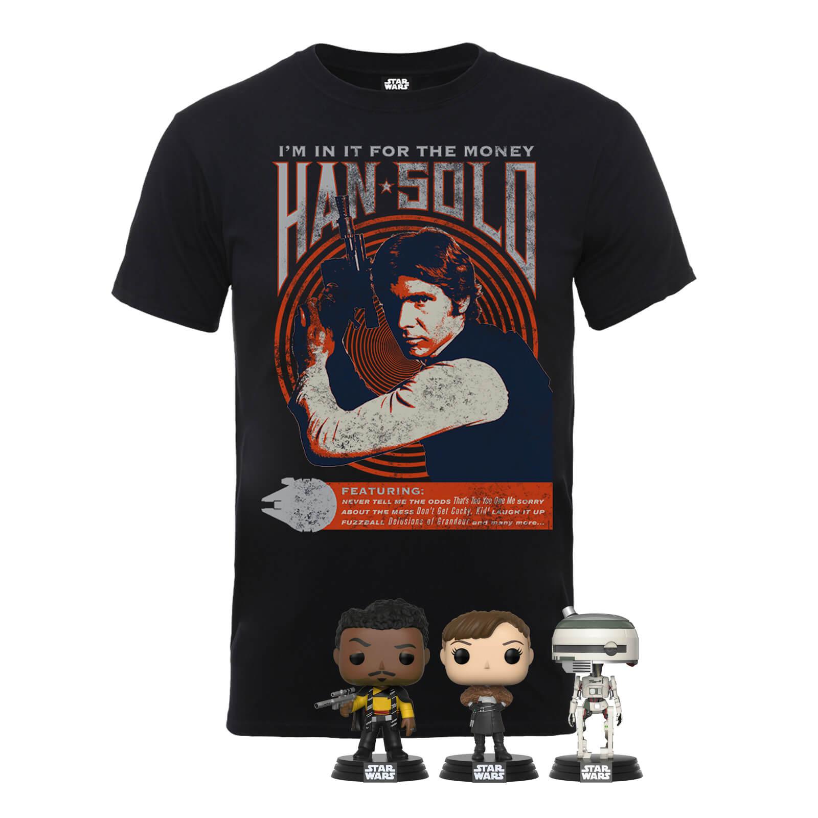 Han Solo Star Wars Shirt + 3 POP Figuren für 20,48€ (statt 44€)