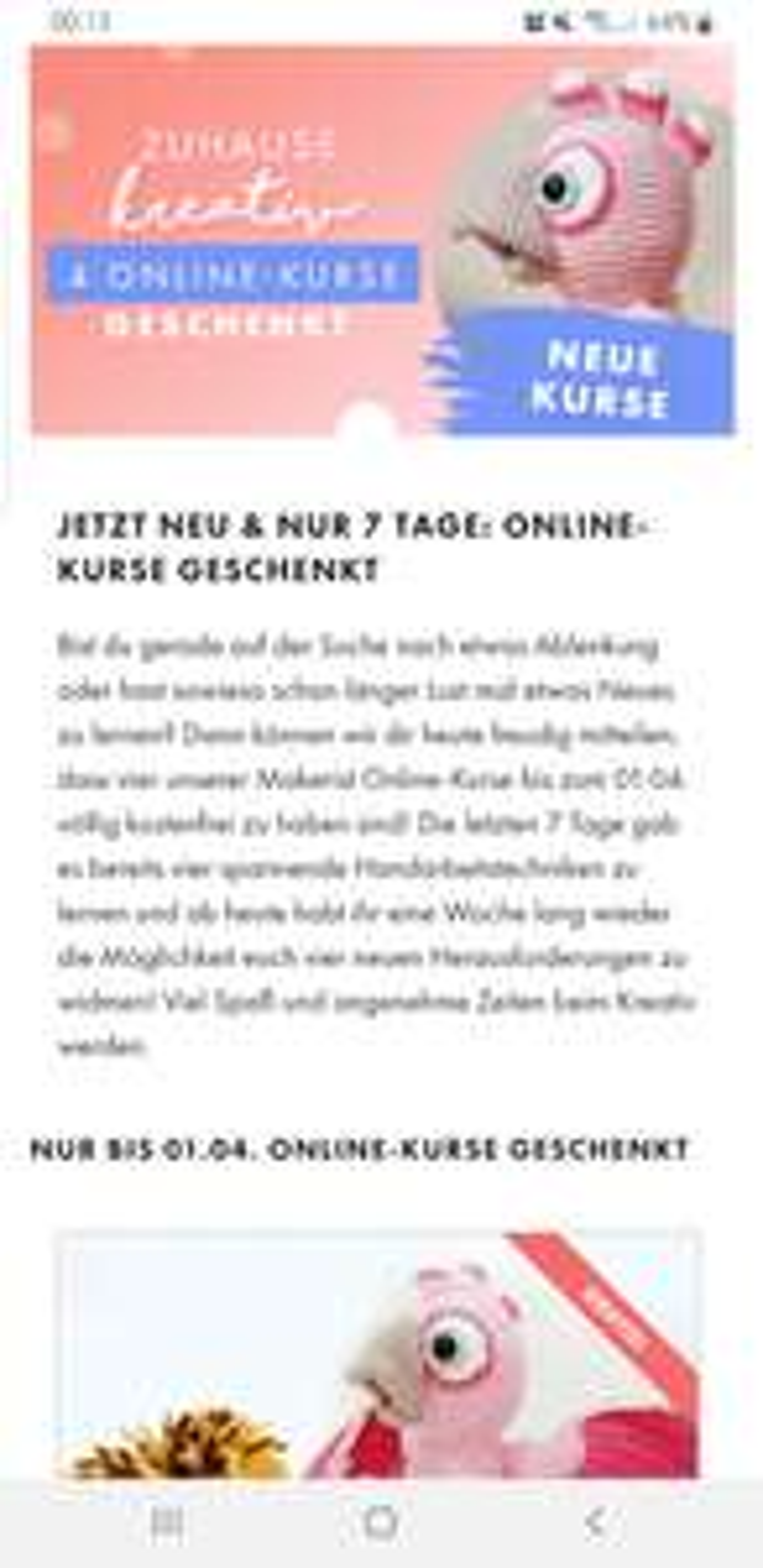 Online Handarbeitskurse