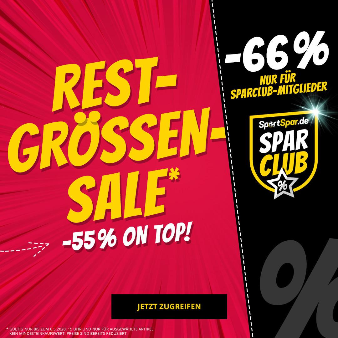 Sportspar. Randgrößen-Sale auf 700 Aktionsartikel nochmals 55%. Spar Club Mitglieder 66%
