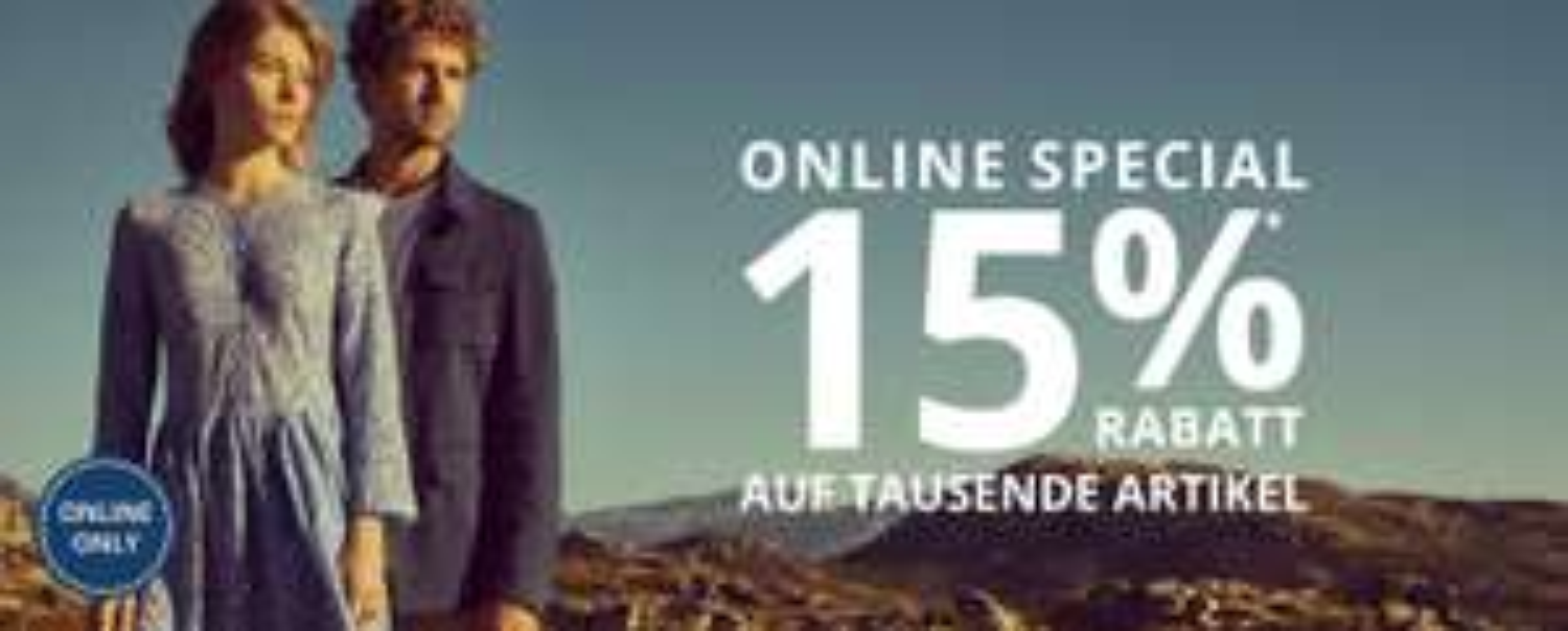 Peek & Cloppenburg: 15% Rabatt auf 1000nde Artikel