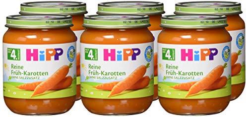 Preisjäger Junior: 6x125g Hipp Reine Früh-Karotten od. Reine Pastinaken
