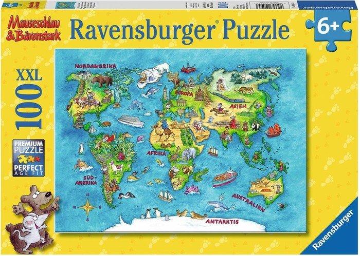 Ravensburger Puzzle Mauseschlau & Bärenstark Reise um die Welt