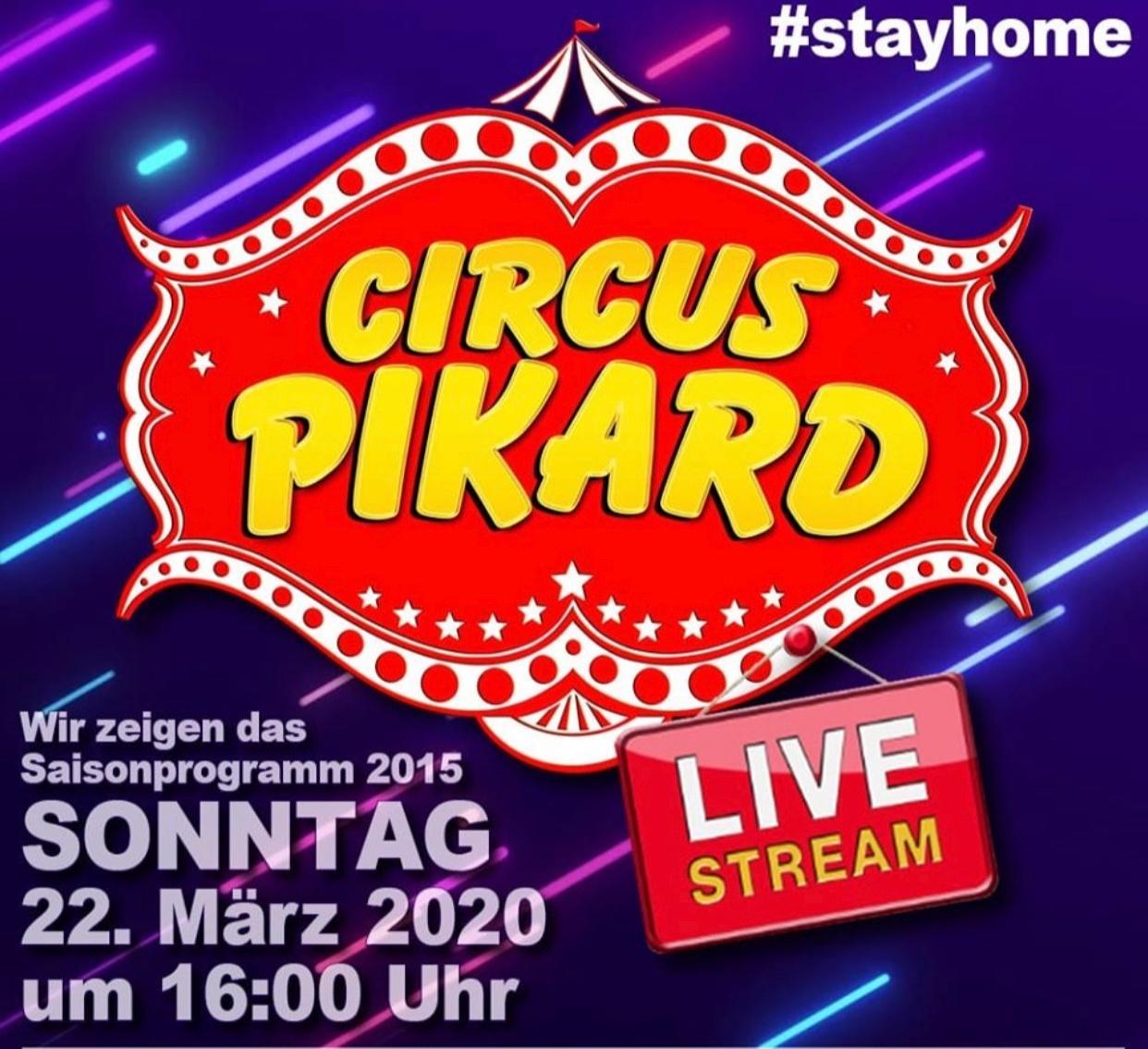 Circus Pikard: Kostenloser Livestream des Programms um 16:00