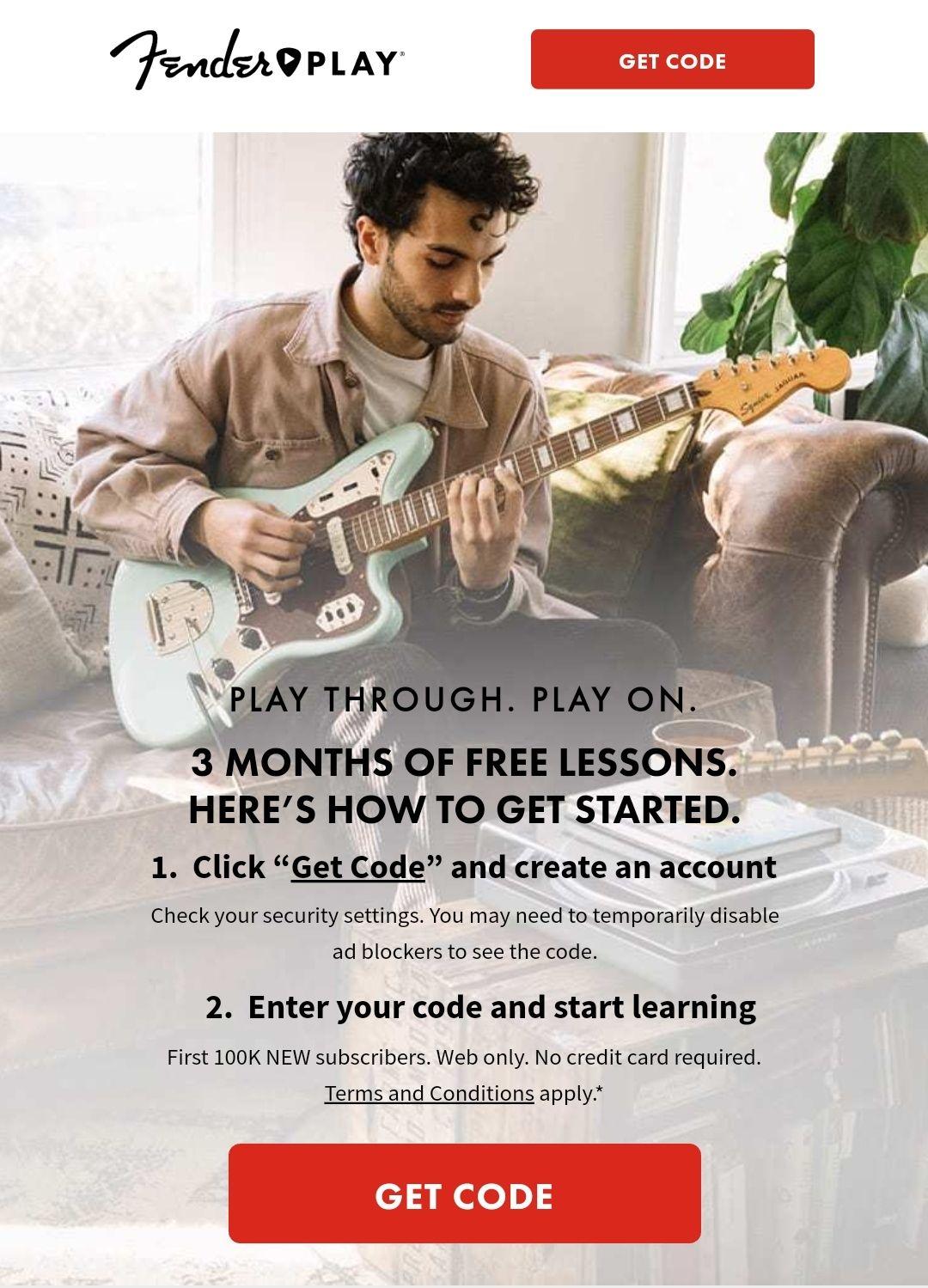 Fender Play: Gitarre spielen lernen