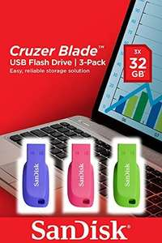 3x SanDisk 32GB Cruzer Blade USB Flash Drive