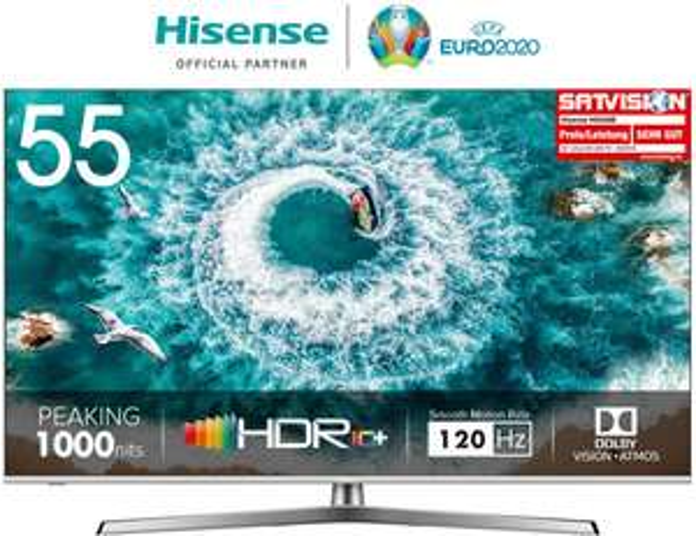 Hisense H55U8B 138 cm 55 Zoll Fernseher mit 4K Ultra HD, HDR 1000, DolbyVision, Triple Tuner, Smart-TV, USB-Aufnahmefunktion, WCG