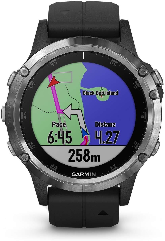 """Garmin """"Fenix 5 Plus"""" Multisport-Smartwatch mit EU Karten"""