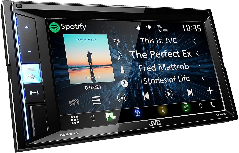 JVC KW-M450BT Digital-Media-2-Din-Autoradio mit 15,7cm Touchscreen (2X USB, Bluetooth Freisprecheinrichtung, Android- und Spotify Control)