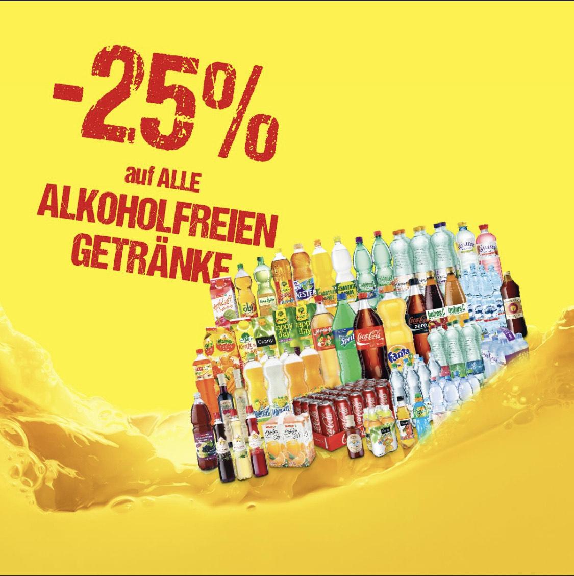 [Maximarkt] -25% auf alle alkoholfreien Getränke