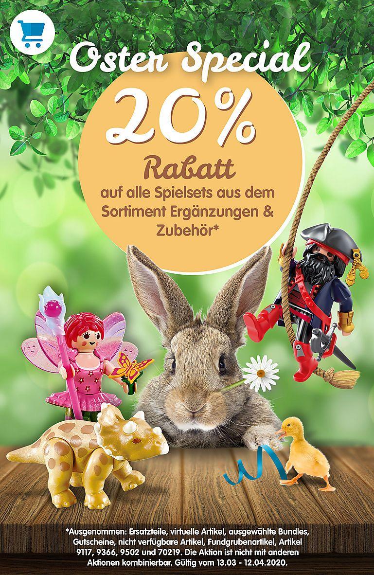 Playmobil Oster-Special 20 % Rabatt auf Spielesets