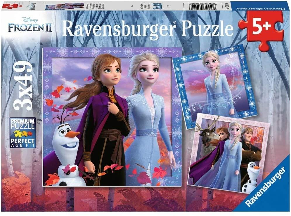 """Preisjäger Junior: Ravensburger Puzzle """"Frozen 2: Die Reise beginnt"""", 3x49 Teile"""