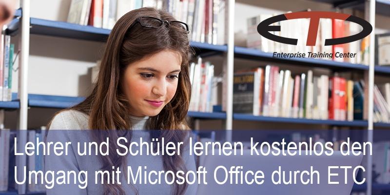 [ETC] Lehrer und Schüler lernen kostenlos Microsoft Office