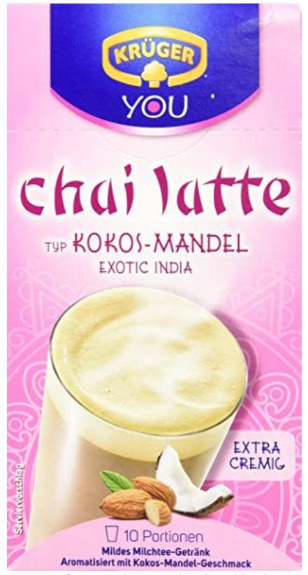 KRÜGER Chai Latte Exotic India Typ Kokos Mandel (1 x 0.25 kg) =10 Portionen