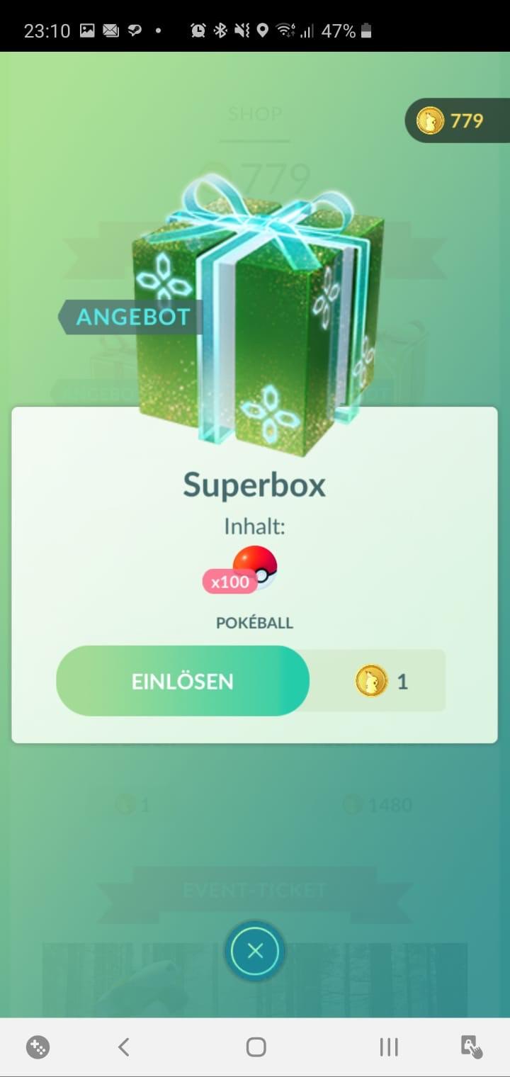 Pokémon Go 100 Pokébälle um 1 Coin