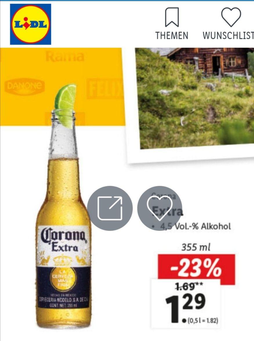 Lidl Angebote, z.B. Corona Extra 1,29 € oder Toilettenpapier 10 Rollen für 2,49 €