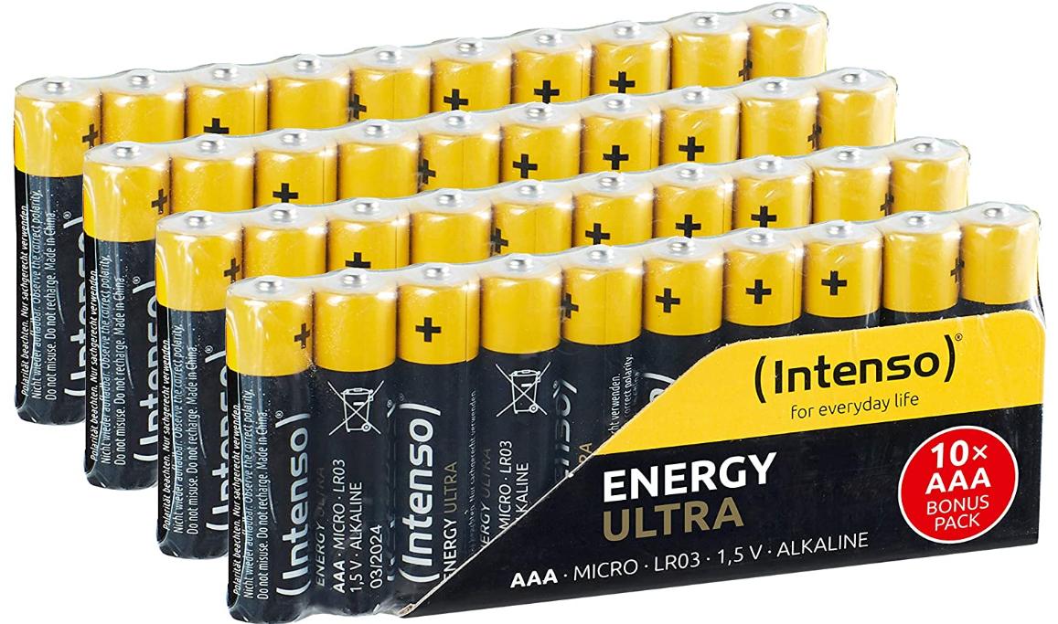 [Amazon] Intenso Energy Ultra AA/AAA Mignon LR6 Alkaline Batterien 40er Pack um nur 6,05€