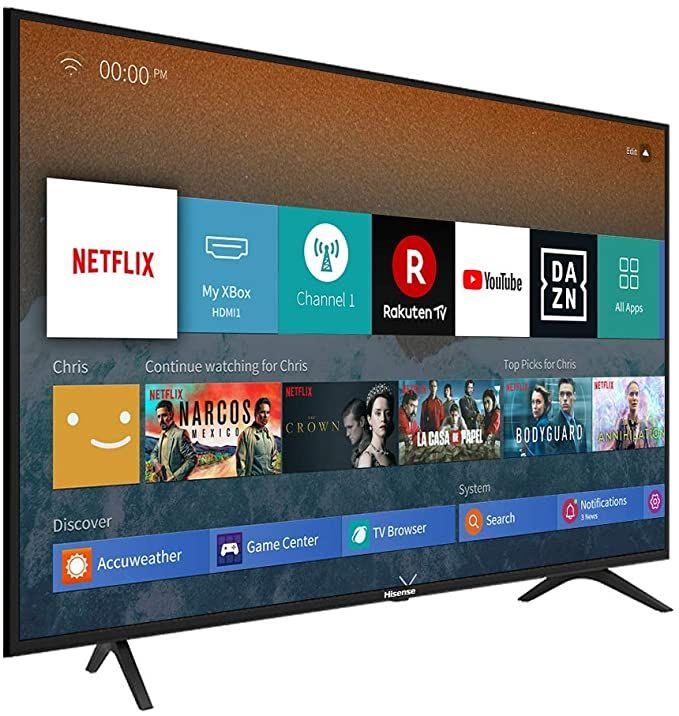 Hisense H55BE7000 Fernseher (3840x2160, 300cd/m², HDR10+, HLG, WLAN, HbbTV)