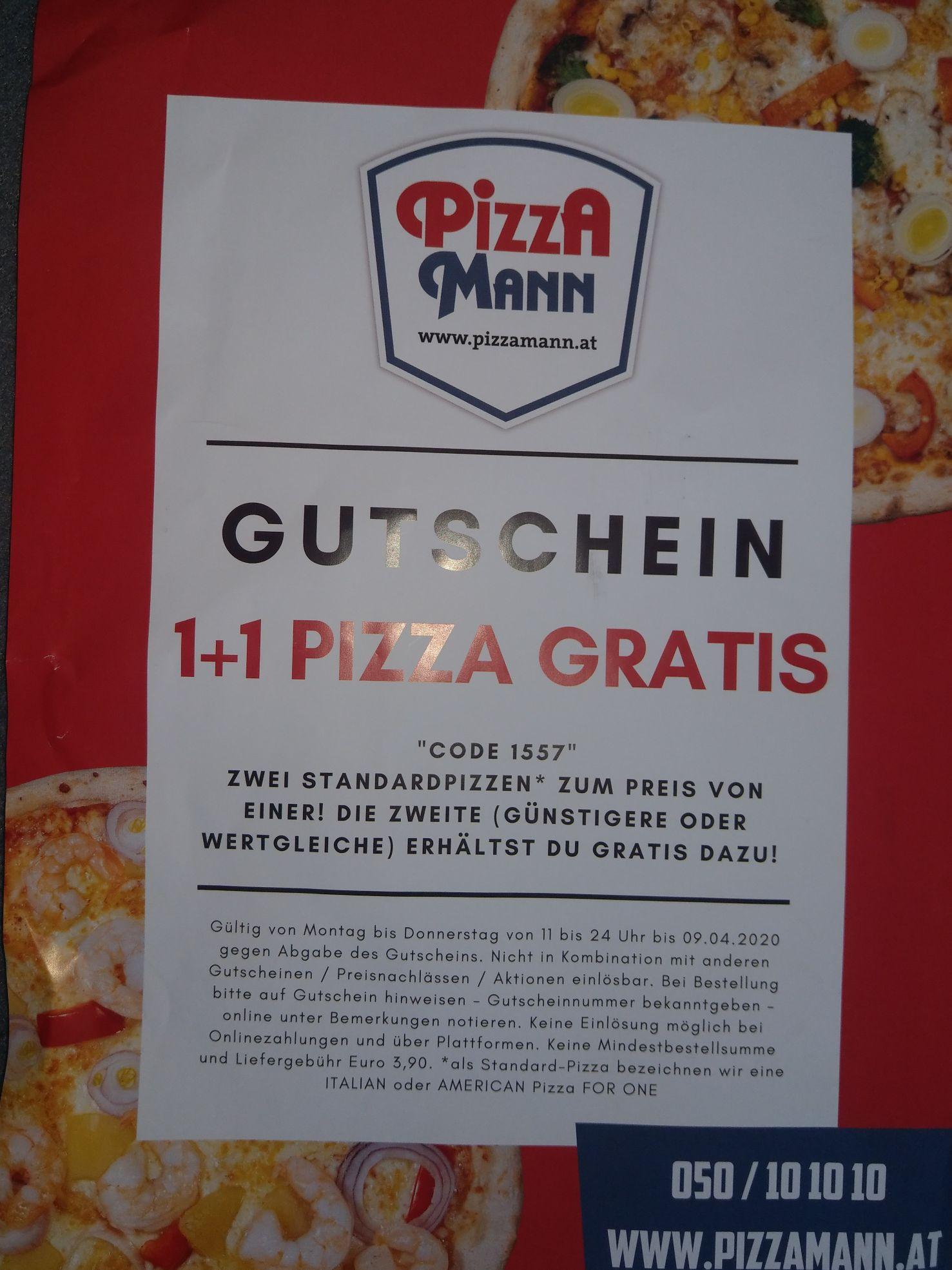 Fat Boy NOT slim: Pizzamann 1 + 1 gratis
