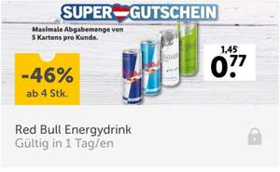 [Lidl] Red Bull ab 4 Stk. je 0,77€ ab Samstag