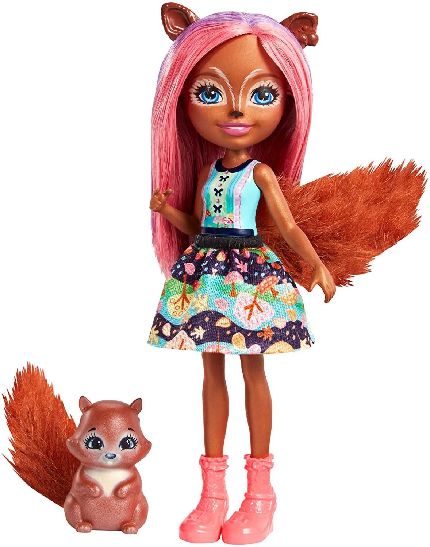 Preisjäger Junior: Enchantimals Eichhörnchen-Mädchen Sancha Squirrel Puppe oder Papageienmädchen Peek Parrot