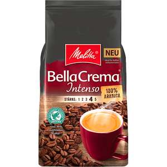 @melitta.at -25% auf Kaffee (Melitta® BellaCrema® Intenso, Kaffeebohnen, 1000g ab 5 Pkg. je 6,71€) + Gratis Versand