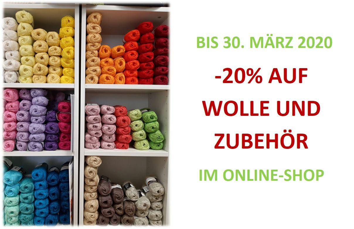 Wolle und Zubehör um -20% bis 30.03.