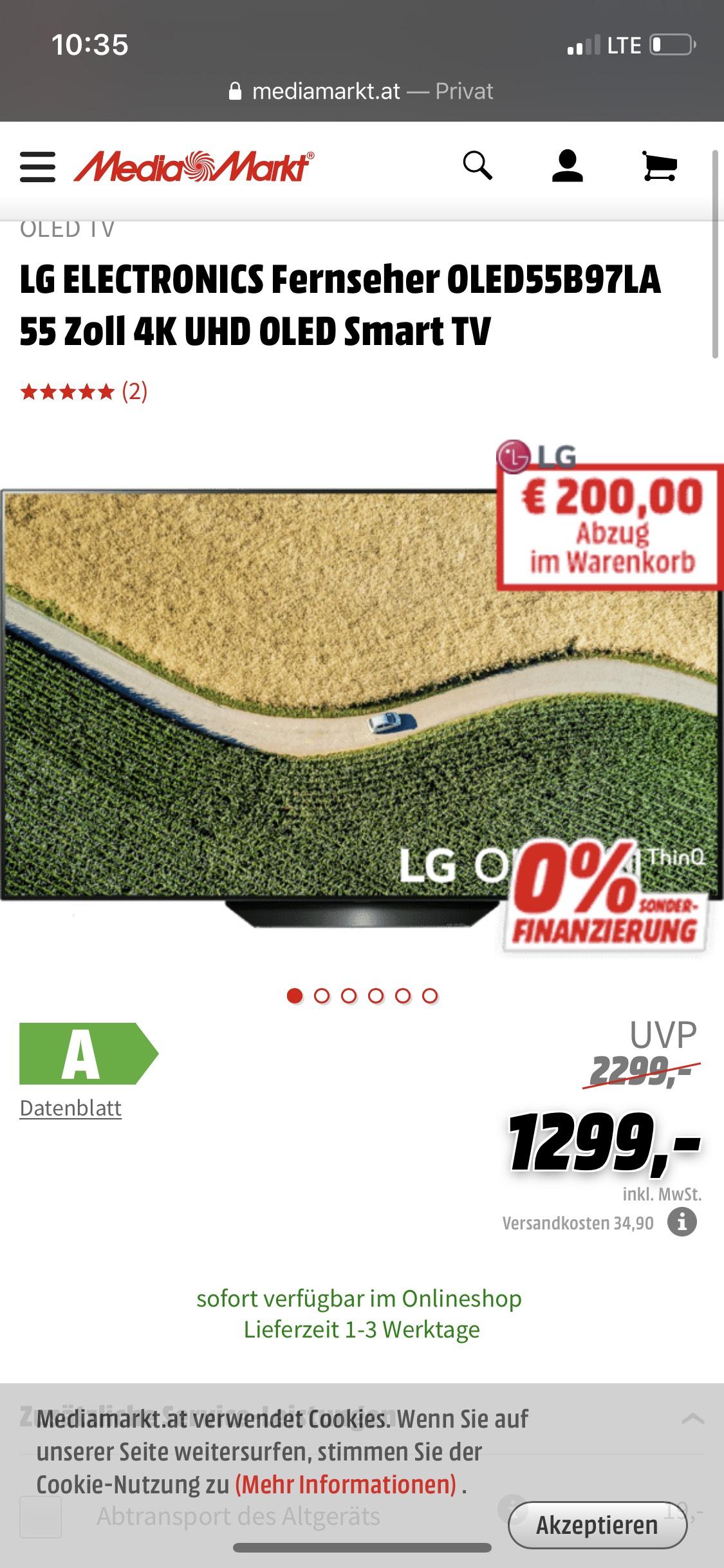LG OLEDB97LA 55Zoll