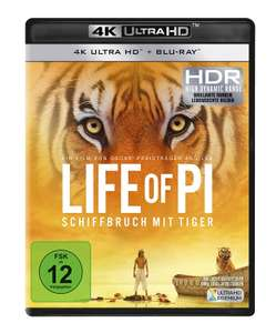 Life of Pi - Schiffbruch mit Tiger (4K Ultra HD) (+ Blu-ray) (ohne Prime: 18,57€)