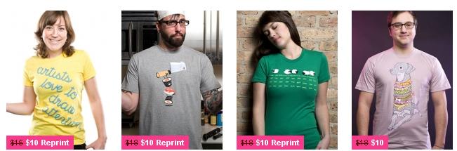 Coole T-Shirts für ~11€ bei Threadless *UPDATE* neuer Sale ~10€ pro Shirt