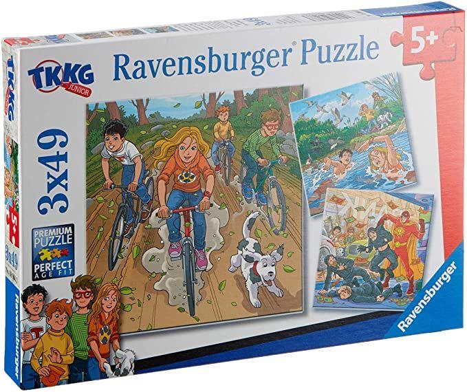 Ravensburger Puzzle - Abenteuer mit TKKG (3x 49 Teile) + Mini Poster