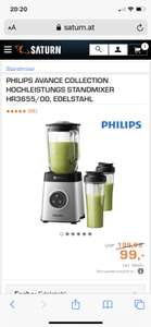 PHILIPS AVANCE COLLECTION HOCHLEISTUNGS STANDMIXER HR3655/00, EDELSTAHL