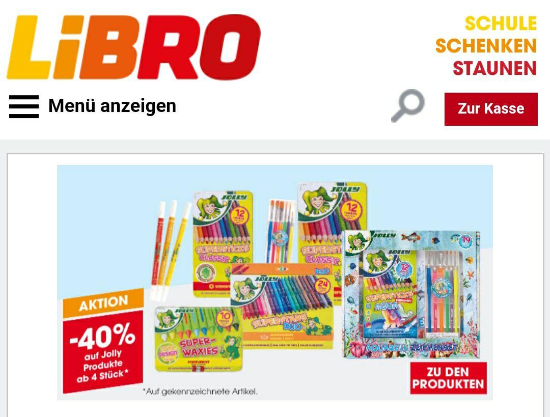 Libro -40% auf Jolly Produkte (ab 4 Stück)