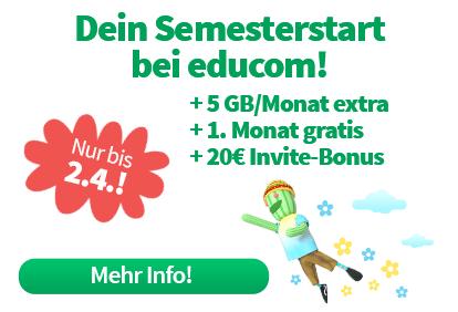 Gratis Tarifwechsel für Bestandskunden, 5GB/Monat mehr für effektiv 0,01€!