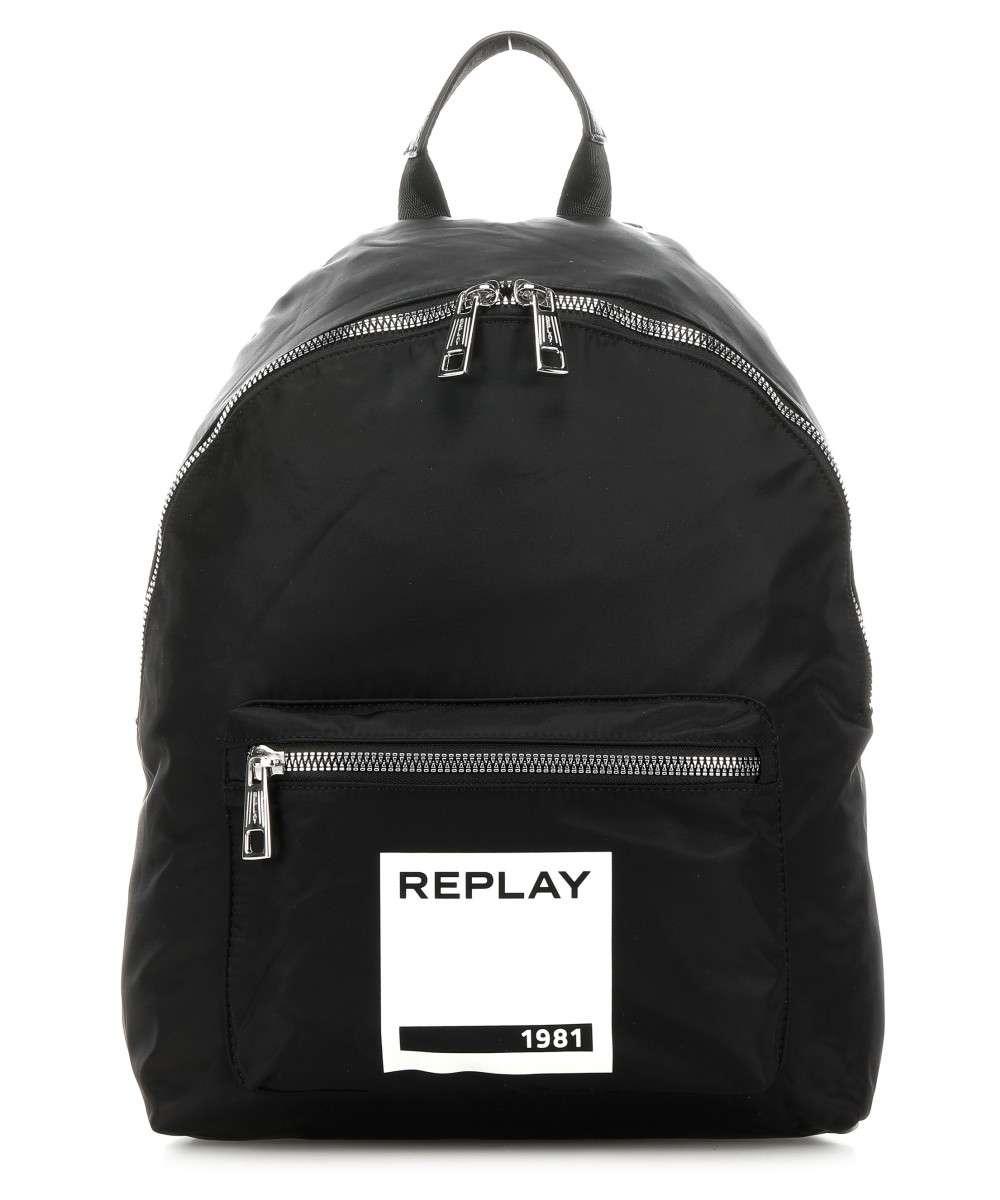 Replay Unisex-Erwachsene Rucksack, Schwarz (Black), 14x41x30 cm