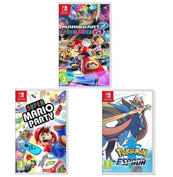 3 Nintendo Switch Spiele um 105,93€