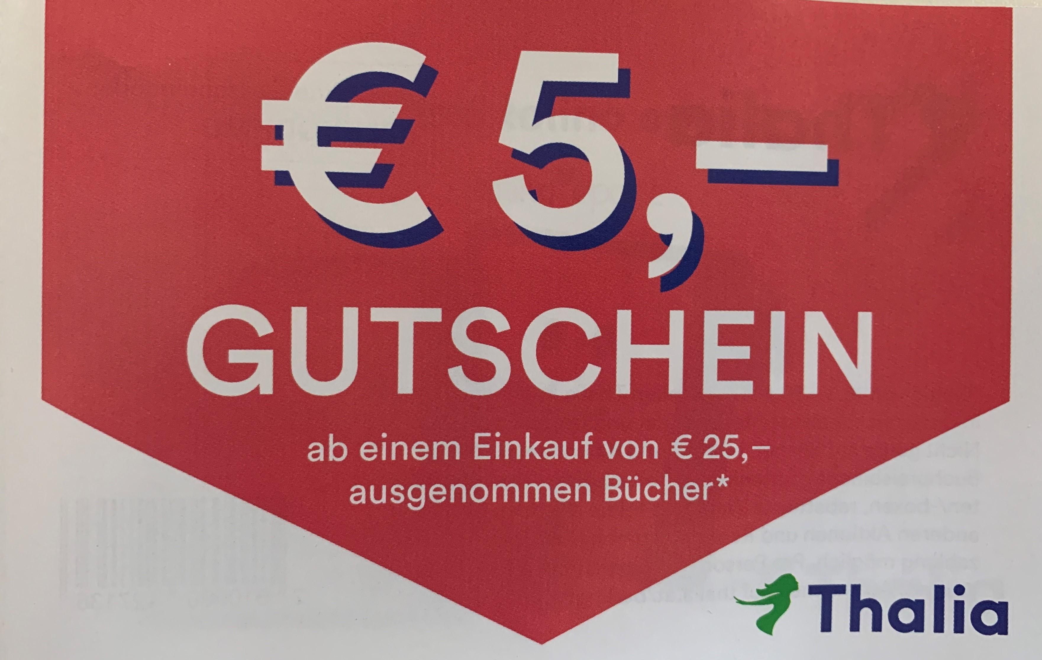 Thalia 5€ Gutschein