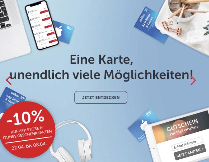 - 10 % Rabatt auf App Store & iTunes Geschenkkarten - ohne ein Geschäft aufsuchen zu müssen