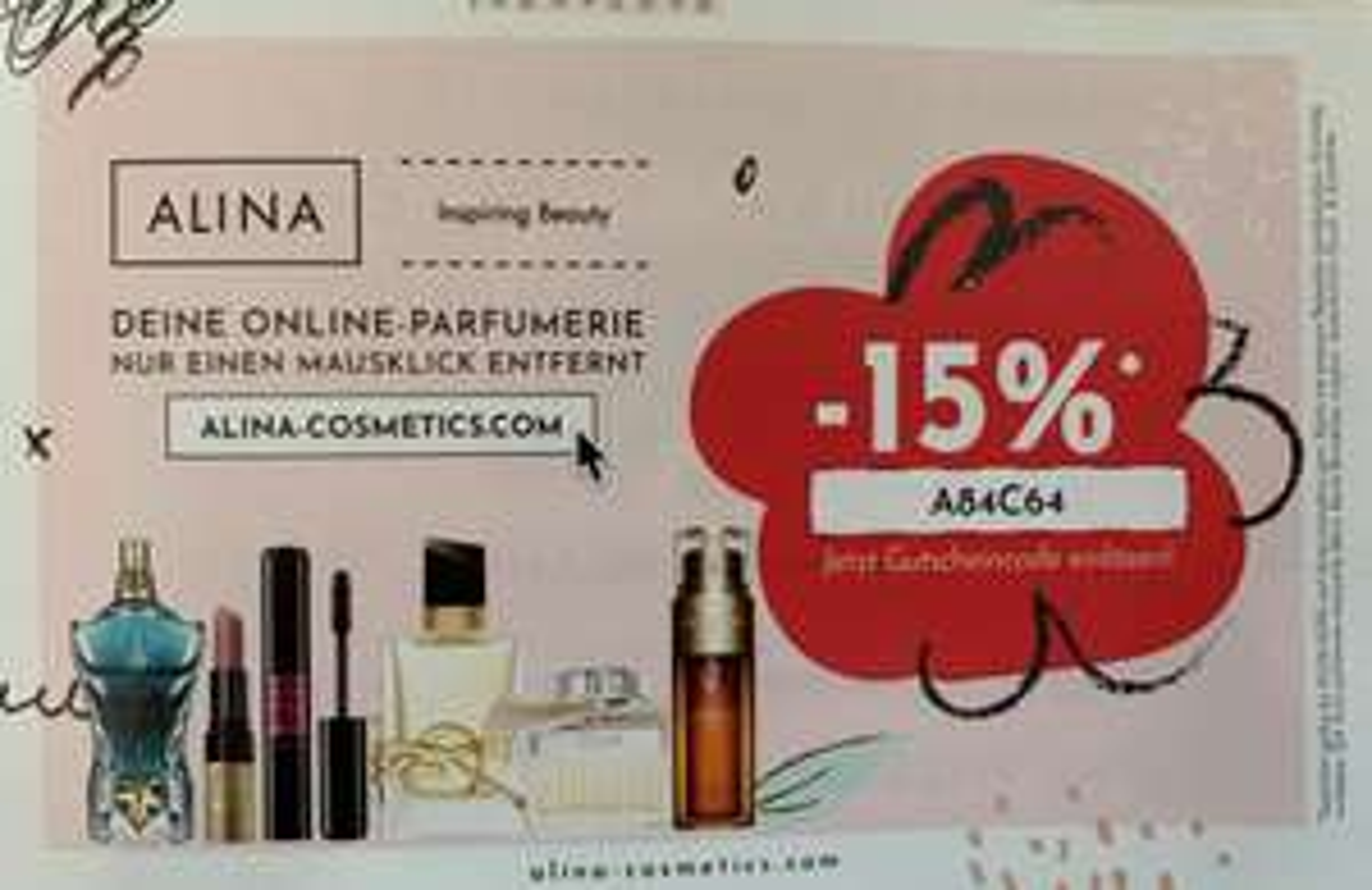 15% Rabatt bei ALINA Cosmetics