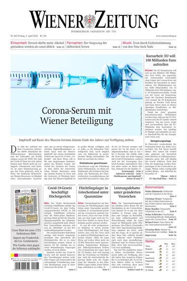 Für Zeitungleser: Wiener Zeitung gratis als E-Paper verfügbar