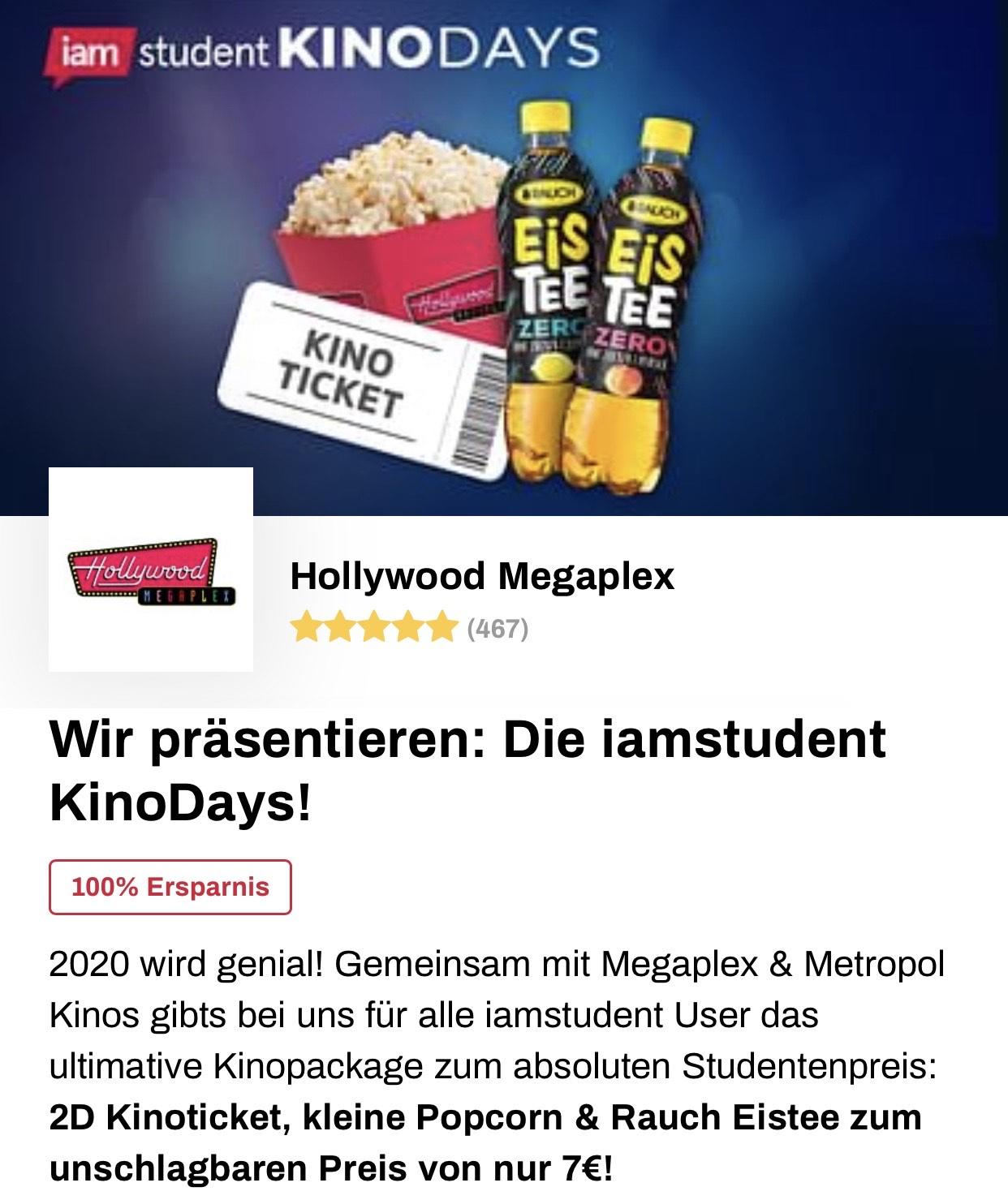 iamstudent Kinodays | Hollywood Megaplex