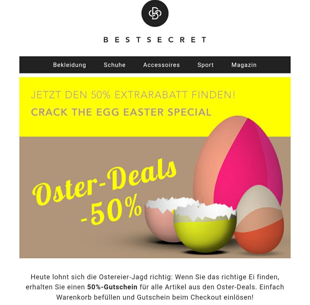 50 % auf Oster Deals bei BestSecret