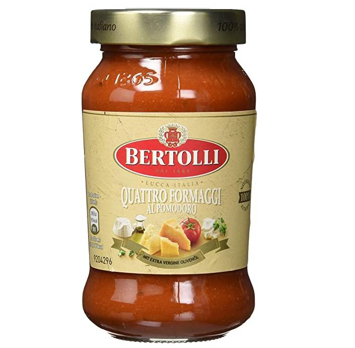 """6x 400g Bertolli Pasta Sauce """"Funghi e Porcini"""" oder """"Quattro Formaggi"""""""