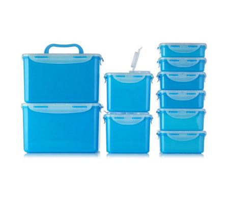 Lock & Lock Frischhaltedosen 10er Set in 8 verschiedene Farben (BPA-frei, 4-fach Klickverschluss, stapelbar, luft-/wasserdicht)