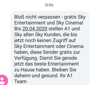 Sky Cinema & Sky Entertainment Kostenlos
