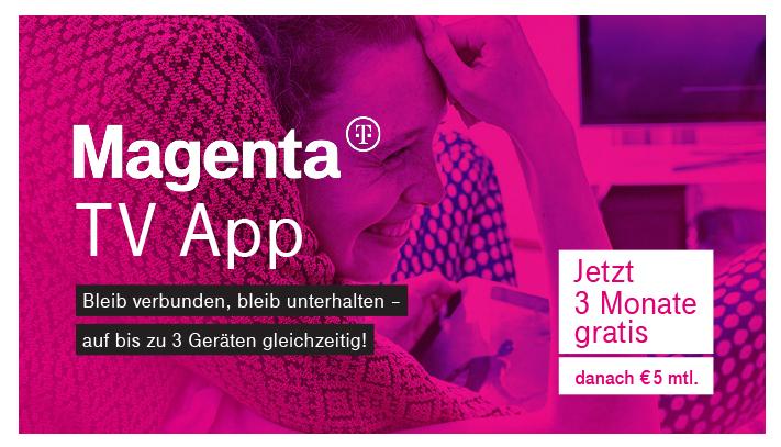 [Magenta] TV für 3 Monate ohne Bindung für Internetkunden
