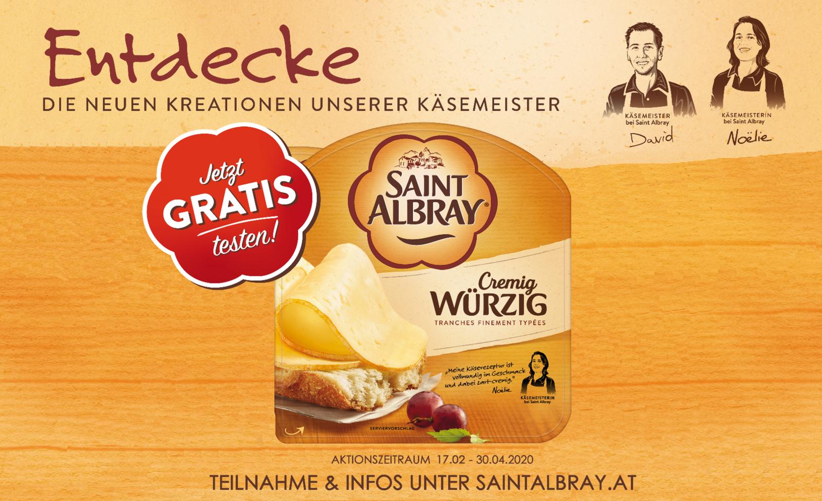 Saint Albray Scheiben Cremig Würzig gratis testen dank 100 % Cashback